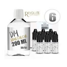 KIT 200 ml - 6 mg/ml nicotine avec booster-  DIY  -  50 % PG 50 % VG - REVOLUTE