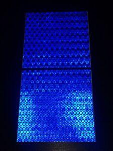Reflective Tape Self adhesive High Viz High Intensity 2 Pieces Blue (100x100)mm