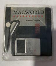 MACWORLD MAGAZINE Mini Disk Replica Letter Opener 1980s