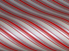 VTG 1950 CHRISTMAS STORE WRAPPING PAPER 2 YARDS GIFT WRAP MCM SILVER CANDY CANE