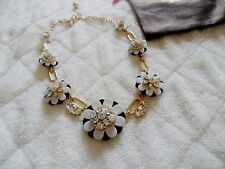 KATE SPADE NEW YORK Shadow Blossoms Flowers Crystal Necklace