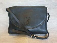 Vintage 80's Yves Saint Laurent Sholder Bag Crossbody Black YSL Logo