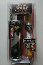Star Wars Episode 1 Anakin Skywalker Watch & Qui Gon Jinn Light Saber Case