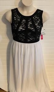 Morgan & Co Women's Formal Sleeveless Dress Black White Size medium 5/6