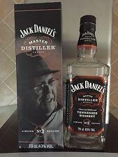 Jack Daniels 'Master Distiller No.3' Whiskey  - Empty Bottle in Presentation Box
