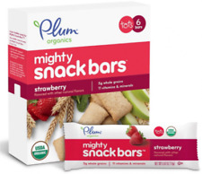 NEW PLUM ORGANICS TOTS MIGHTY SNACK BARS STRAWBERRY BABY SNACKS and FINGER FOODS