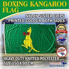 Boxing Kangaroo Flag  Large Heavier Duty Australian Flag