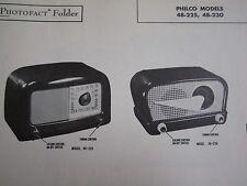 PHILCO 48-225 & 48-230 RADIO PHOTOFACT