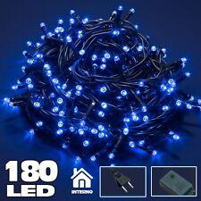 Catena Luminosa 180 Luci LED Lucciole BLU con Controller 8 Funzioni Interno