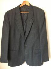 Jacket Suit Grey Pinstripe Burton Size 42s Polyester <T15318
