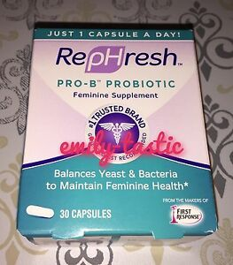 RepHresh Pro-B Probiotic Feminine Supplement 30 Capsules July 2022 #1126