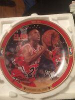 "Michael Jordan ""NBA 101"" BULLS Plate Bradford Exchange UpperDeck"