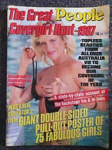 People The Great Covergirl Hunt Magazine 1987 Narelle Nixon,Sam Fox