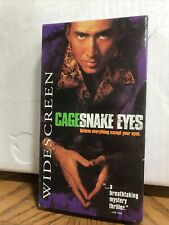 Snake Eyes Vhs Nicolas Cage Widescreen Edition