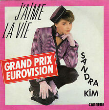 SANDRA KIM J'AIME LA VIE / NE M'OUBLIE PAS FRENCH 45 SINGLE
