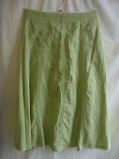 Ladies Skirt - Woolworths, size 14, hips 105cm, lime green, ramie/cotton 1681
