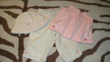 JANIE AND JACK 6-12 FLORAL TOP PANT HAT LOT