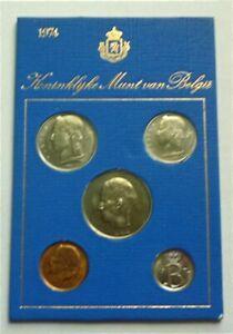 1974 BELGIUM - OFFICIAL SPECIMEN FLEUR DE COINS FDC SET (5) - DUTCH LEGEND