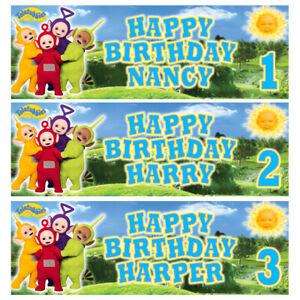 TELETUBBIES Personalised Birthday Banner - Teletubbies Birthday Party Banner