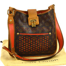 AUTH LOUIS VUITTON MUSETTE SHOULDER BAG MONOGRAM  PERFO ORANGE M95174 S06751