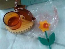 1 PORTE LAMPIONS ou RECHAUD PARTYLITE...avec lapin et fleur neuf