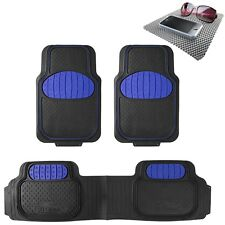 Universal Floor Mat Football Design Blue for Car SUV Van w. FREE Dash Mat Gift