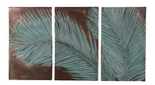"""70""""L Verde Bronze Finish Palm Leaf Triptych Wall Mount Decor Over 5 feet Tree"""