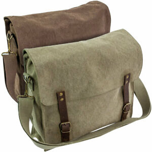 Fintry Cotton Canvas Satchel Messenger Retro Vintage Shoulder Bag Haversack 10L