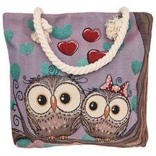 Unusual Owl Design Shoulder Bag Animal Tote Bag Unusual Owls zipped Shopping bag