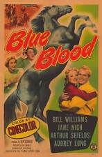 BLUE BLOOD Movie POSTER 27x40 Bill Williams Jane Nigh Arthur Shields Audrey Long