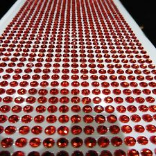 1000 SELF ADHESIVE STICK ON DIAMONTE DARK DEEP RED CRYSTAL RHINESTONE DIAMANTES