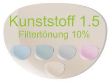 2 Brillengläser Kunststoff (Index 1,5) inkl. Filtertönung und TOP Ausstattung