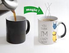 Minions Best Crazy Friend Magic Color Changing Heat Sensitive Tea Cup Coffee Mug