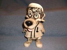 "VINTAGE 1977 CREATIVE MFG INC 9"" HARD PLASTIC HOUND DOG BASEBALL PLAYER #1 BANK"