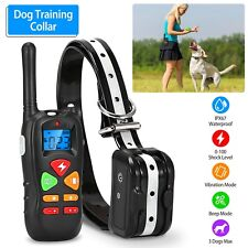 Waterproof Dog Shock Collar With Remote Electric for Large 1640ft Pet Training