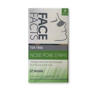 Face Facts Tea Tree Deep Nose Cleansing Pore Strips Removes Blackheads