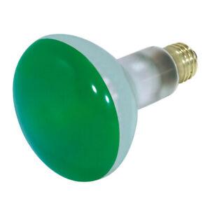 Satco S3227 75W 130V BR30 Green E26 Medium Base Incandescent light bulb