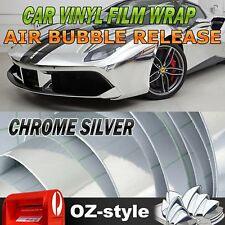 Chrome Silver Wrap Vinyl Adhesive Sticker Film Car Decorate Decal Sheet 30x151cm