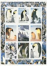 PENGUIN AQUATIC BIRD ANTARTIC ANIMAL KINGDOM NIGER 1998 MNH STAMP SHEETLET