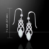 Celtic Knotwork .925 Sterling Silver Earrings Choice of Gemstone Peter Stone