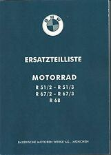 Ersatzteilkatalog / Ersatzteilliste f BMW Oldtimer R 51/2 51/3 67/2 67/3 68 neu