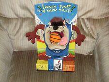 1996 Looney Tunes Usa Olympic Salute Taz Basketball Plush Summer Cartoon Tv