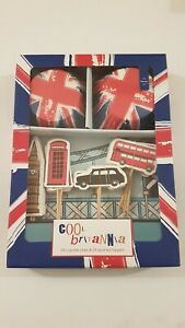 London Party Cupcake Kit 24 Toppers Cake Cases Decoration British Bus Union Jack