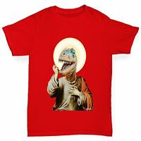Twisted Envy Boy's Raptor Jesus Funny Cotton T-Shirt