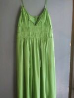 100% Silk BCBG Green Women's Dress