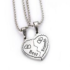 Best Friend Muster Herz-geformte Anhänger Freundschaft Halskette aus Legierung