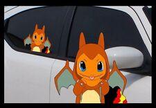 "Pokemon Charmander, Charizard Costume, 7"" Window Car Decal, Pokemon Go, Sticker"