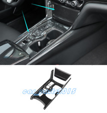 2PCS ABS Carbon Fiber Gear Shift Box Panel Cover Trim For Honda Accord 2018 2019