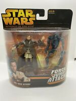 "STAR WARS 2005 ROTS  ""OBI-WAN KENOBI""FORCE JUMP ATTACK! WITH SUPER BATTLE DROID"