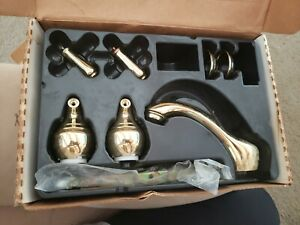 """Moen T4570P Monticello 8"""" Widespread Faucet Polished Brass New old stock"""